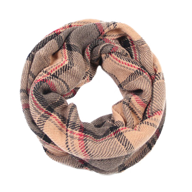 Multi Plaid Infinity Scarf