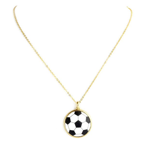 Soccer Pendant Necklace