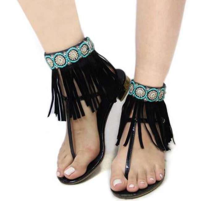 Beaded Bohemian Fringe Anklet Accessories