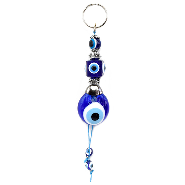 Evil Eye Glass Keychain