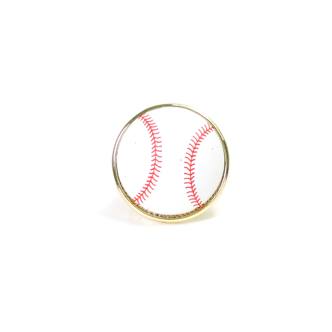 Small Baseball Stretch Ring