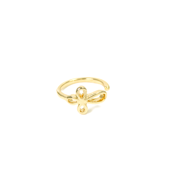 Gold Open Cross Knuckle Ring