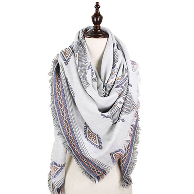 Tribal Diamond Pattern Shawl / Scarf