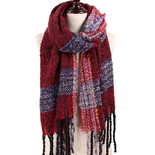 Multi Color Brushed Oblong Scarf