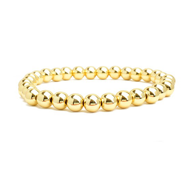 Gold Plated Beaded Stretch Bracelet
