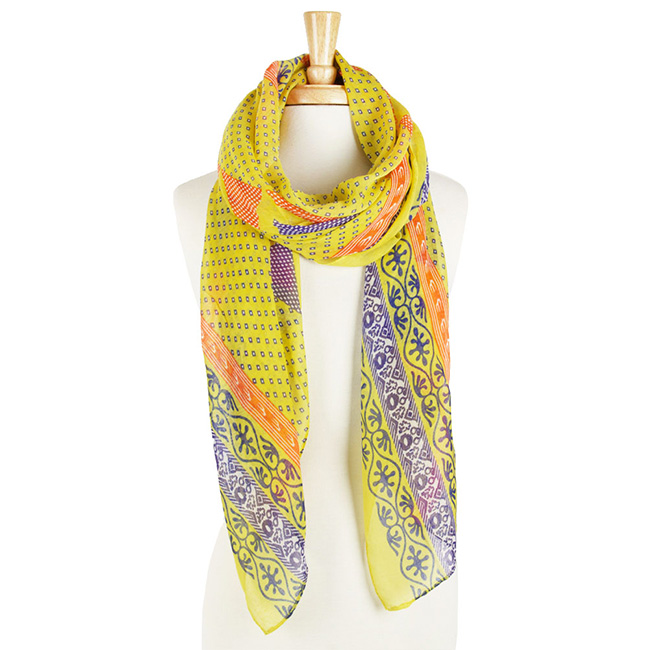 Multi Color Print Long Scarf