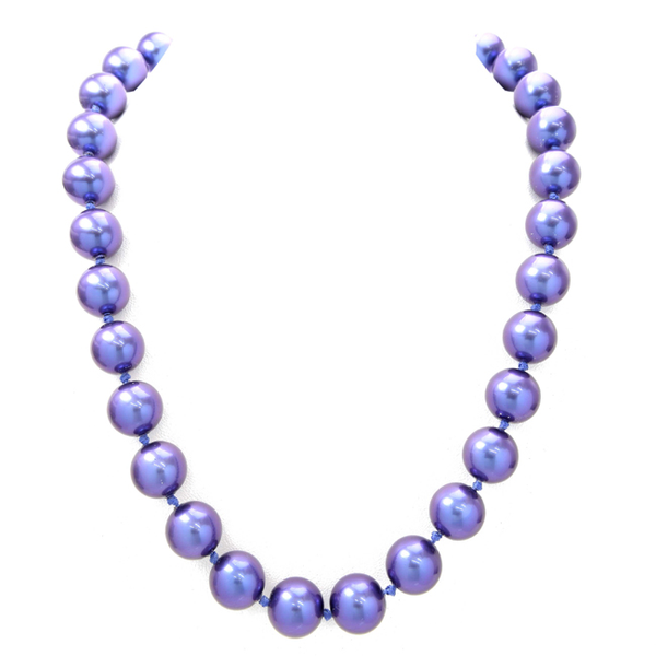 Purple Elegant Pearl Necklace