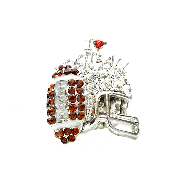 I Love Football Studded Stretch Ring
