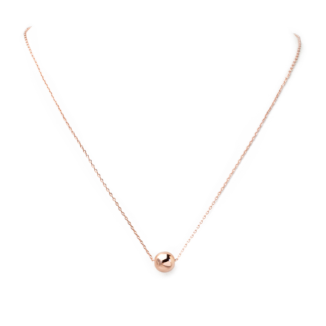 Rose Gold Disco Ball Pendant Necklace