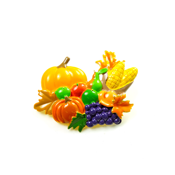 Thanksgiving Harvest Enamel Brooch
