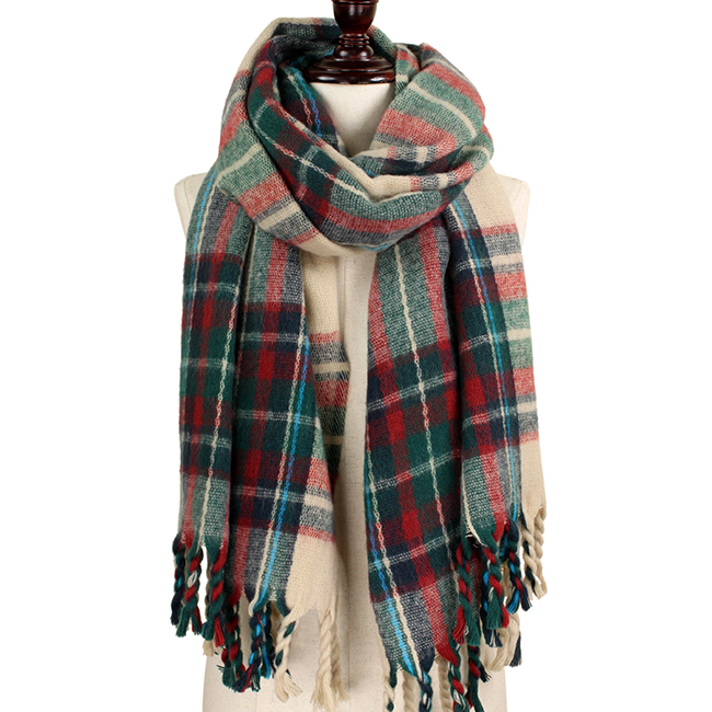 Brushed Plaid Chunky Scarf
