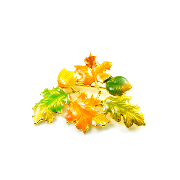 Thanksgiving Leaf Brooch