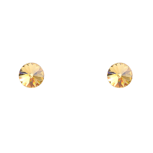 Topaz Crystal Post Earrings