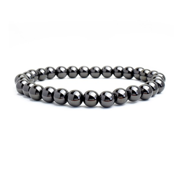 Hematite Brass Beaded Stretch Bracelet