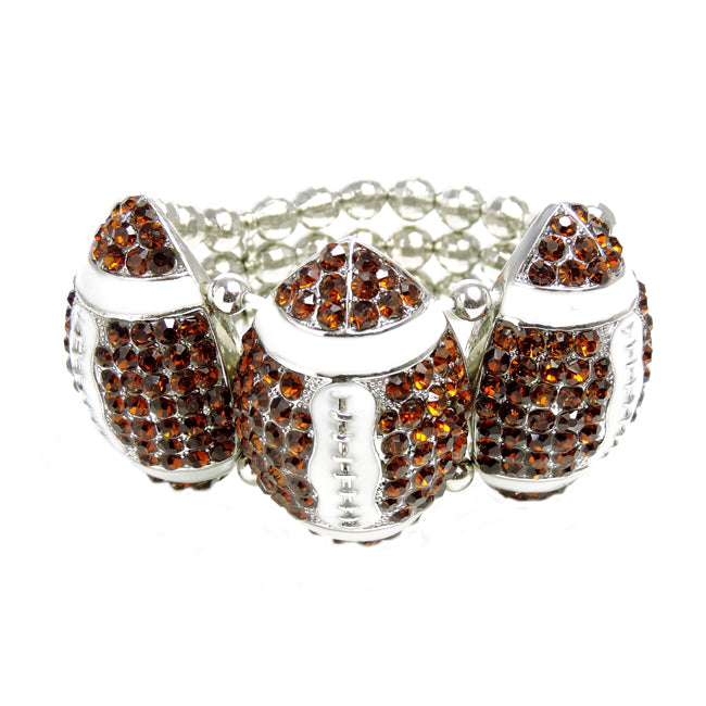 Crystal Football Stretch Bracelet