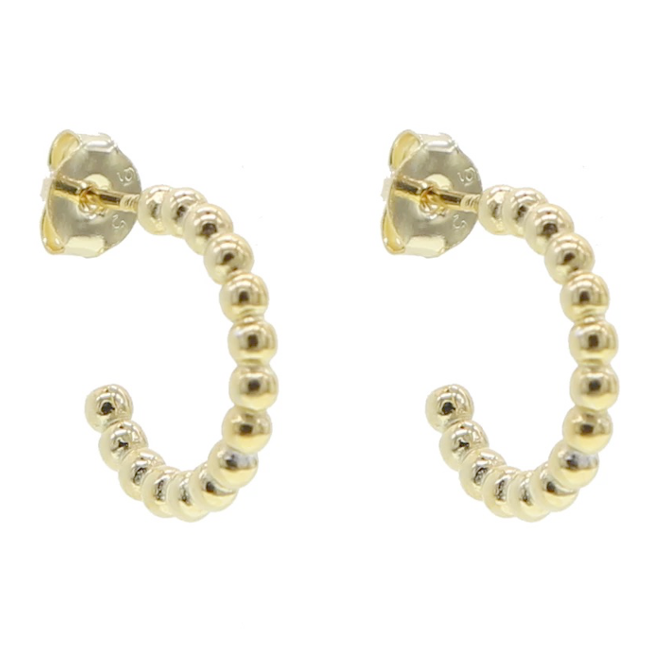 Sterling Silver Gold Plated Hoop Earrings
