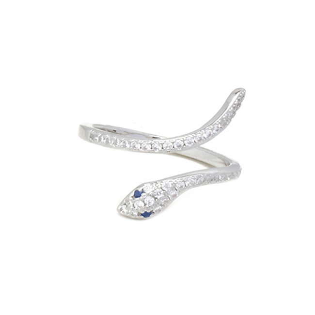 cz snake adjustable ring