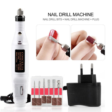 Electric Nail Drill Machine Nail Drill Bit US/EU/UK Plug Manicure Kit
