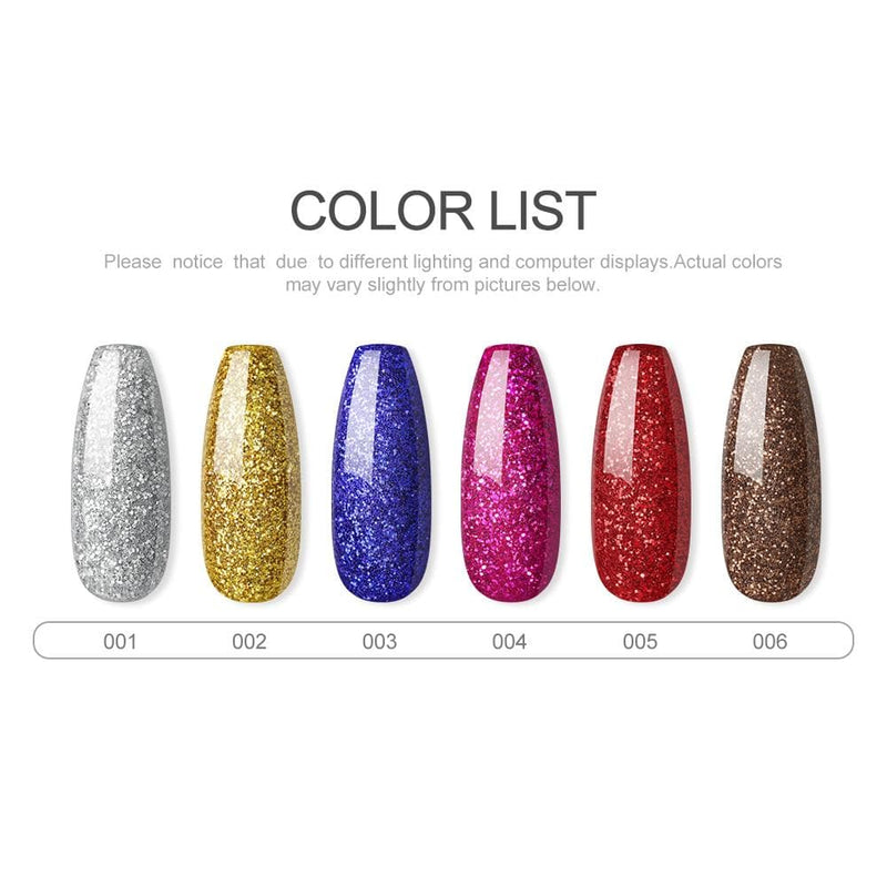 6 Colors Glitter Decoration Powder