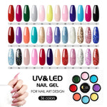 COSCELIA 36Pcs UV Color Gel Polish Manicure 5ml Nail UV Gel Kit