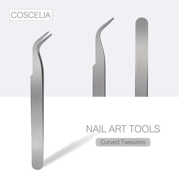 COSCELIA Stainless Steel Nail Tweezers Nail Tools Nail Clippers