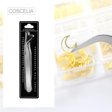 COSCELIA Stainless Steel Nail Tweezers Nail Tools Nail Clippers Manicure Tools