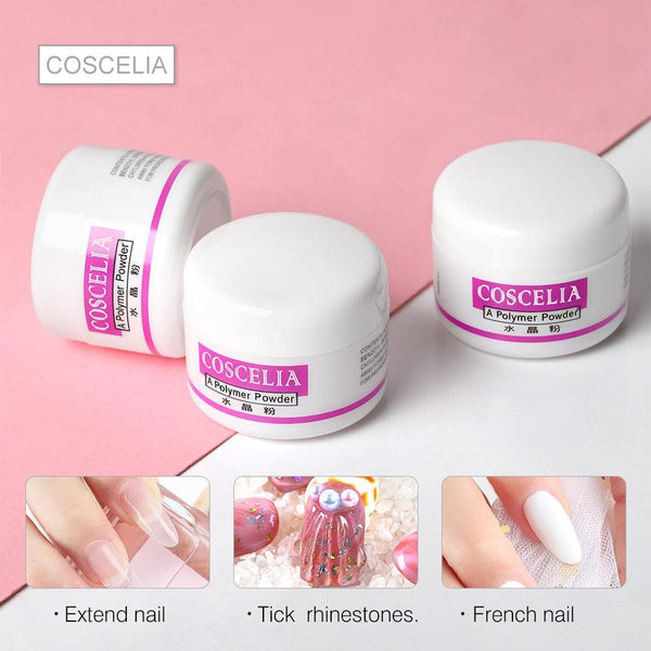 Coscelia 3pc Acrylic Powder Kit With 75ml Acrylic Liquid