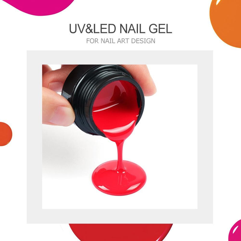 8Pcs Color UV Nail Gel