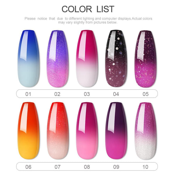 COSCELIA Chameleon Gel Temperature Color Changing Gel Nail Polish