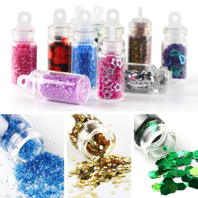 12 Colors Glitter Sequins Nail Acrylic 3D Nail Decoration