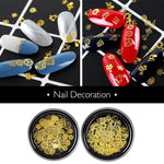 Coscelia Snowflakes Sequins Nail Decoration Christmas Gold Sequins