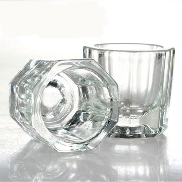 2Pcs/set Nail Glass Dappen Glass Crystal Cup UV Gels Nail art Container Manicure Salon Nail Tools