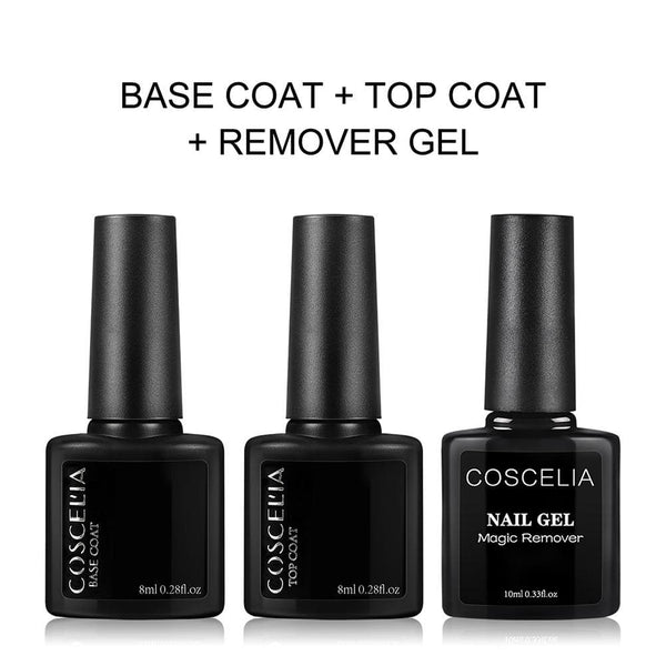 Base Top Coat & Nail Remover Gel Set