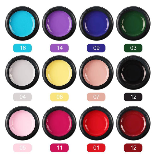 12Pcs Color UV Nail Gel