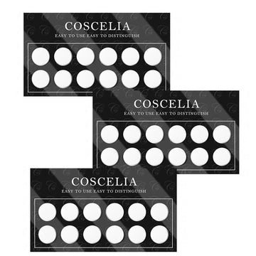COSCELIA 3Pcs Color Chart Color Display Silicone Easy to Use