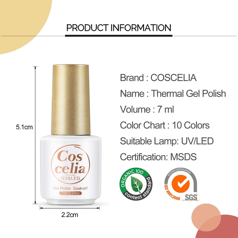 4/6/8pc temperature changing gel polish set 7ml