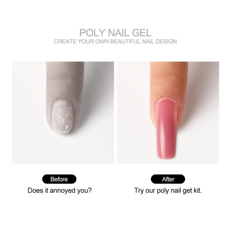 6pc Temperature Color Changing Poly Gel Kit