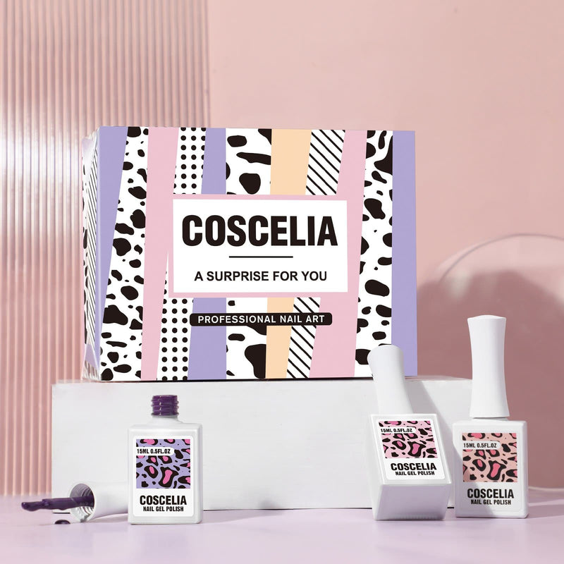 Coscelia 5pc gel polish kit with 110w lamp