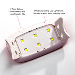 6W Mini Portable UV LED Nail Lamp USB Cable 45S/60S