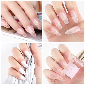 Acrylic Nail Kit Manicure Set Acrylic Powder 3D Tips Glass Cup Nail Brush Crystal Nail Builder