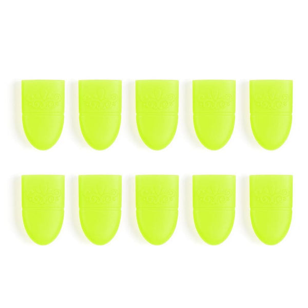 Nail Polish Remover 10Pcs Silicone Nail Remover Wraps Cap Soak Off Portable Reusable Remover Tools