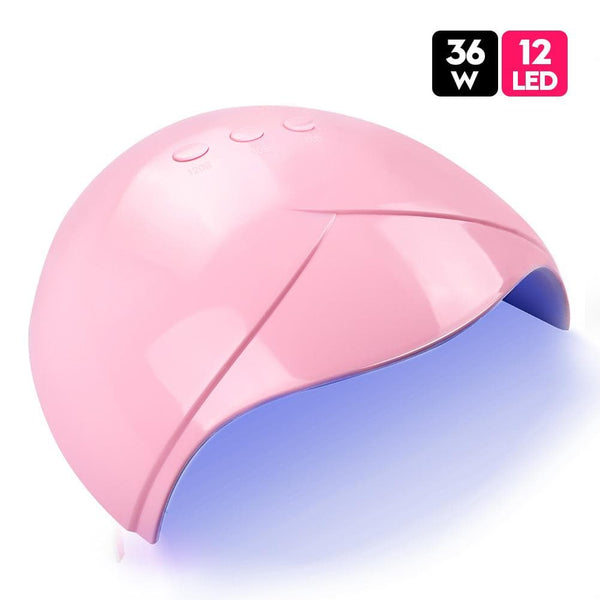 36W Portable UV LED Nail Lamp Quick Dryer Lamp Pink White