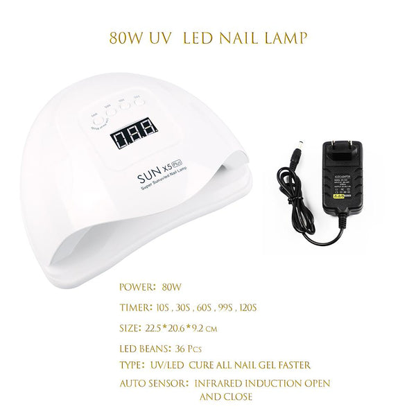80W UV/LED Quick Dryer Auto Sensing Smart Lamp