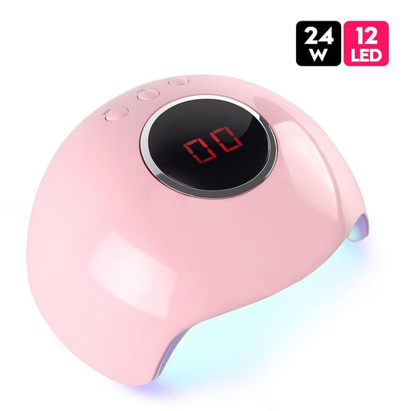 24W LCD Display Sunlight Nail Lamp