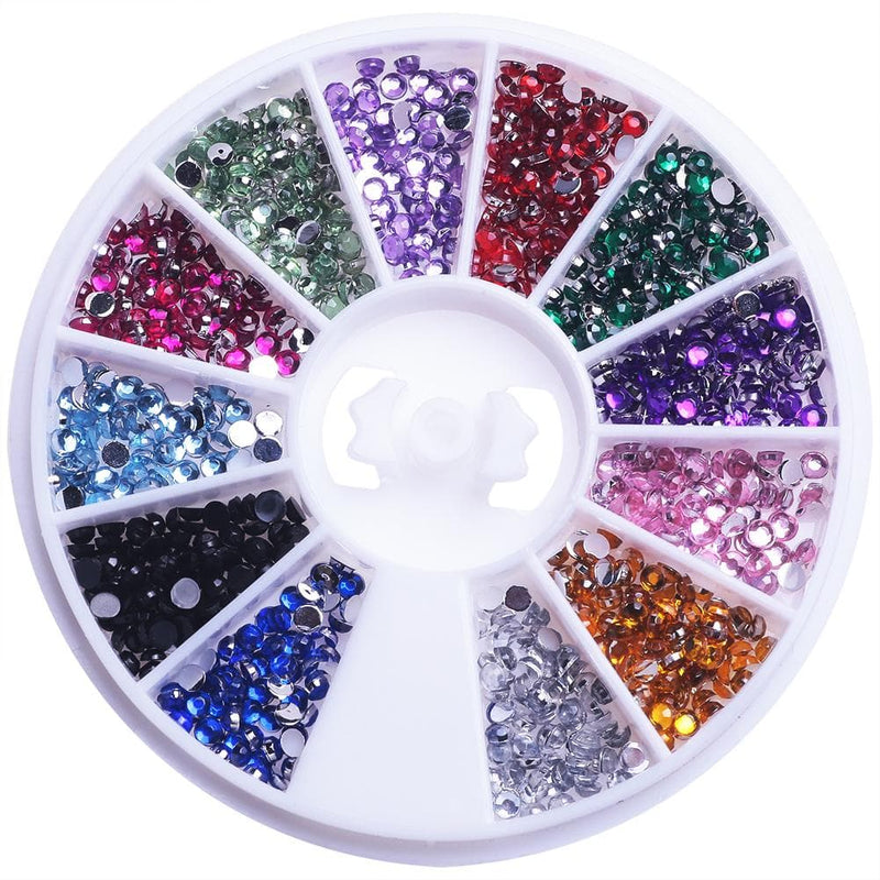 Nail Art Rhinestones Wheel
