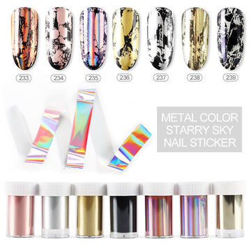 Holographic Nails Foils Starry Sky Glitter Nail Stickers Decals