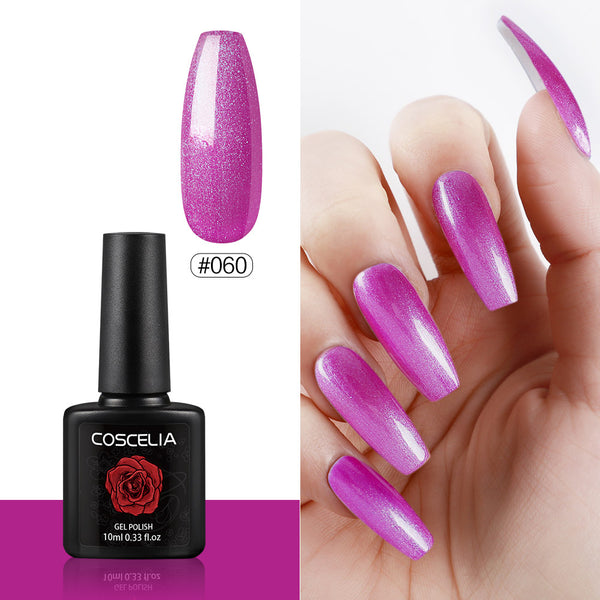COSCELIA Nail Art Gel Polish Manicure Pure Color Gel Soak off Gel 10ML 41-80