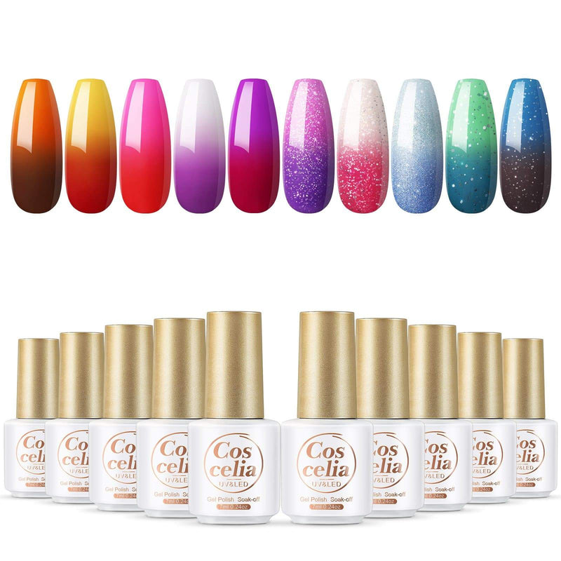 10pc temperature changing gel polish set 7ml eu