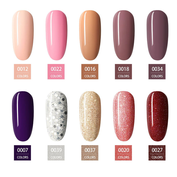 10Pc Nail Gel Polish Set 5ml