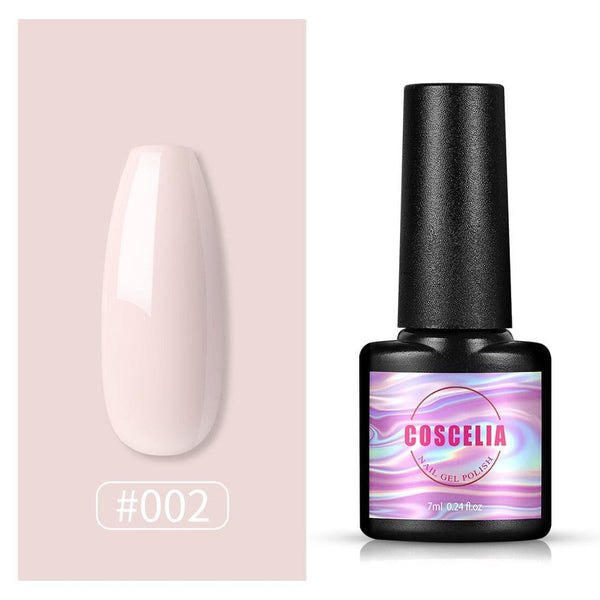 COSCELIA New 32 Colors Nail Gel Polish Top Base Coat Nail Multi-color Design Soak off Gel Manicure Kit